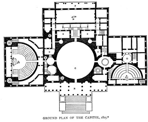 Capitol Building Floor Plan by Ground Plan Of The Capitol