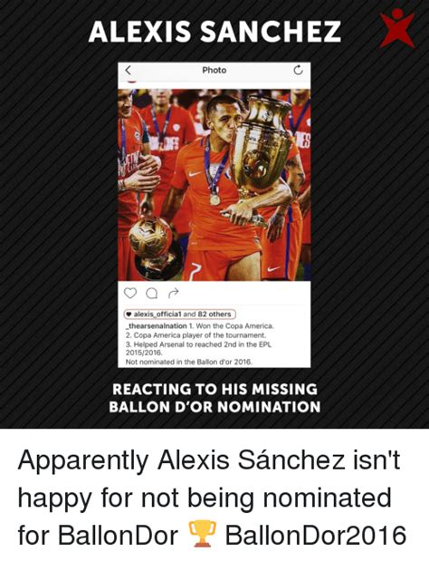 alexis sanchez not nominated funny alexis sanchez memes of 2016 on sizzle click