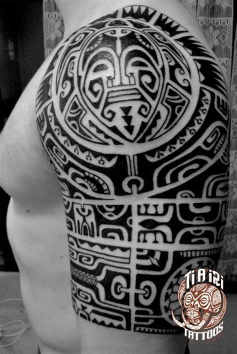 polynesian chest tattoo polynesian shoulder chest tattoos ti a iri polynesian