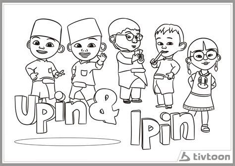 coloring picture upin ipin 10 mewarnai gambar upin ipin