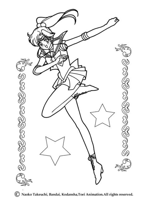 sailor jupiter and stars coloring pages hellokids com