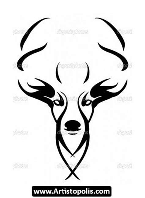 tribal deer head tattoos 17 best ideas about deer on deer
