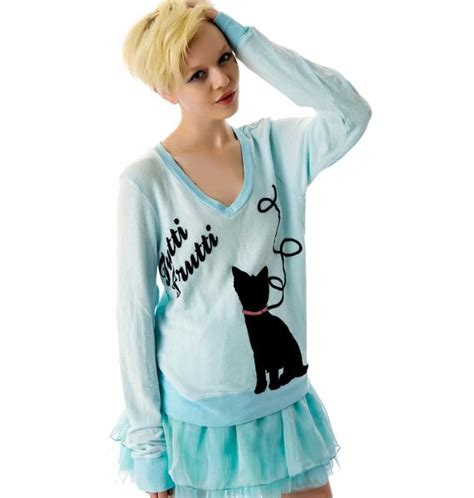 Baggy Meow wildfox couture the cat s meow baggy jumper dolls kill