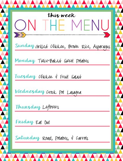 menu template printable i should be mopping the floor free printable menus