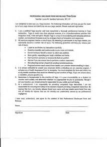 this is a basic liability release disclosure form i