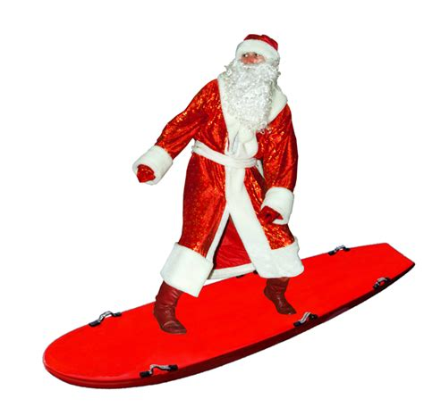 surfing santa transparent background