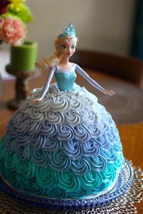 elsa doll cake   frozen themed birthday party food   frozen birthday cake frozen