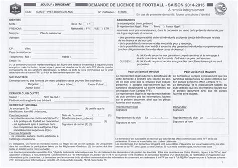 Imprime Credit Formation Dirigeant 2015 Imprim 233 Licence Club Football Gars Yves Bourg Blanc Footeo
