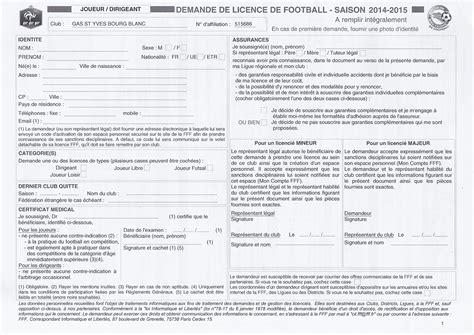 Imprime Credit Formation Dirigeant 2015 Imprim 233 Licence Club Football Gars Yves Bourg Blanc Footeo