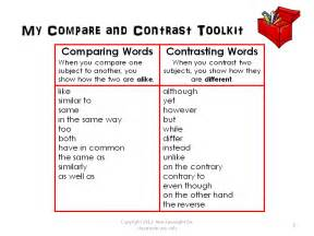 gallery for gt compare and contrast words