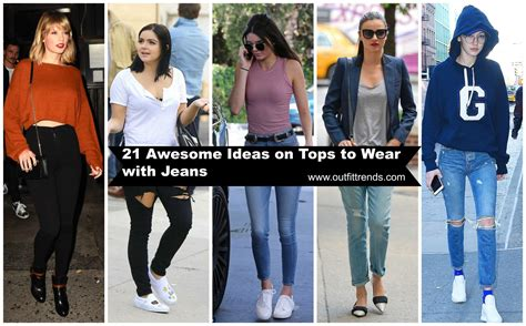 cute tops  wear  jeans  jeans tops outfit ideas