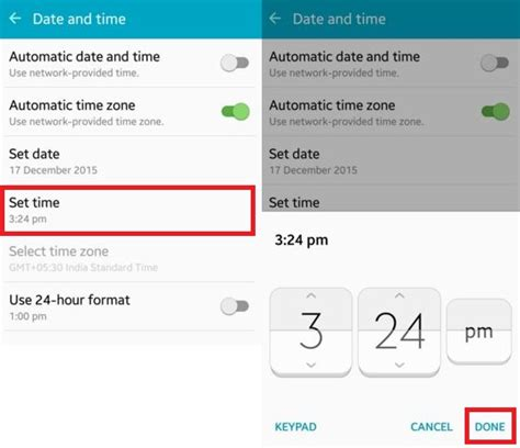 android date how to set date and time on android lollipop