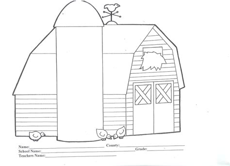Farm Coloring Part 4 Barn Coloring Page