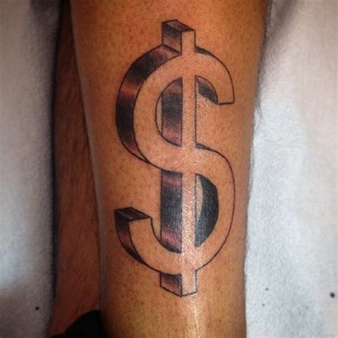 money sign tattoo dollar sign designs ideas and meaning tattoos