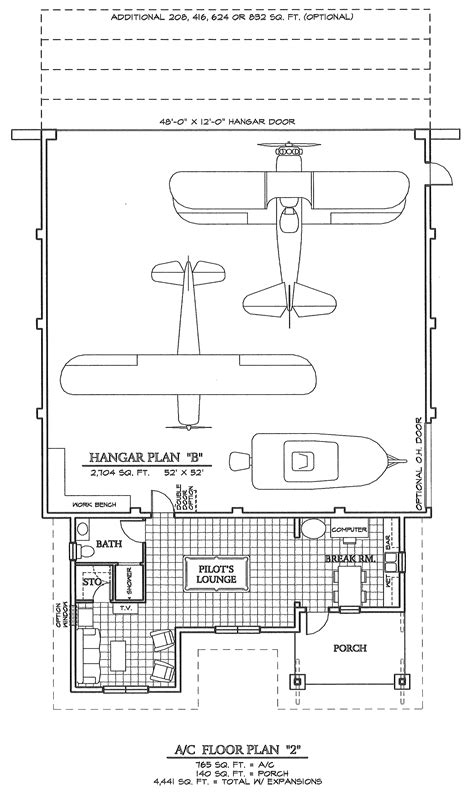 Airplane Hangar Blueprints Pictures To Pin On Pinterest Hangar House Plans