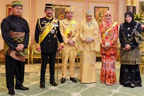 sultan hassanal bolkiah son brunei royal wedding and the bride wore gold diamonds