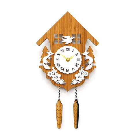 modern cuckoo b wall clock by decoylab rosenberryrooms com