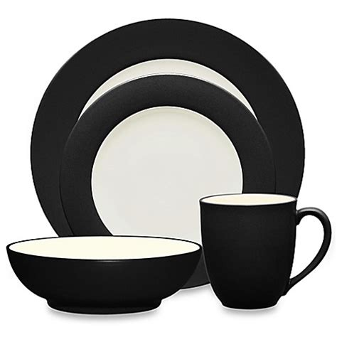 noritake colorwave graphite buy noritake 174 colorwave 4 place setting in graphite from bed bath beyond
