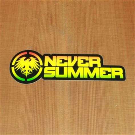 Never Summer Stickers