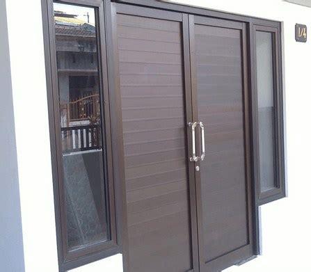 Kusen Pintu Alumunium pintu aluminium motif kayu rumah minimalis rumah minimalis