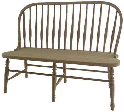 amish deluxe bent feather windsor bench