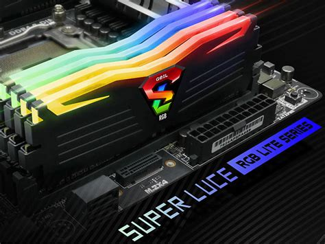 Geil Ddr4 Evo X Rgb Led Pc19200 Dual Channel 32gb 2x16gb 16 16 16 1 ddr4 luce rgb lite dual channel kit products