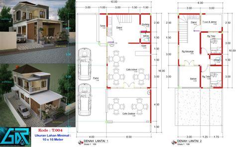 desain ruko cafe  lantai ukuran  meter jasa desain rumah