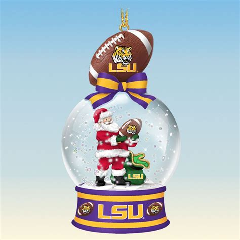 lsu tigers snow globe ornaments the danbury mint