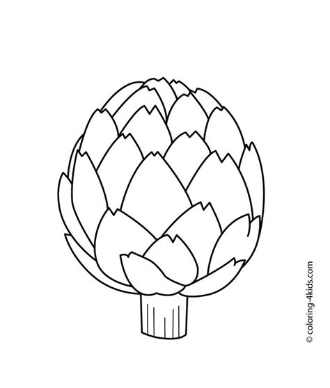 fruits berries  vegetables coloring pages