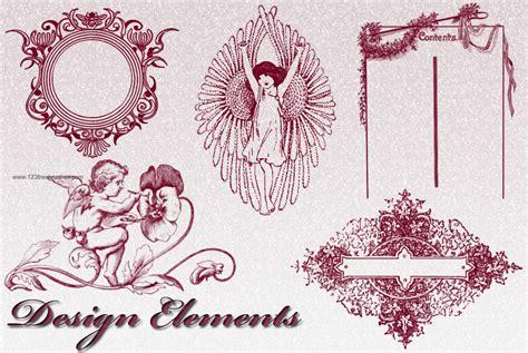 design elements in photoshop victorian decorative design elements photoshop brushes