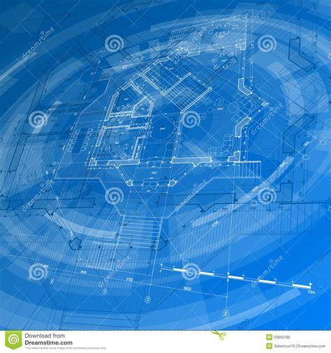 Cad Floor Plans Free Download architecture design blueprint house plan stock vector