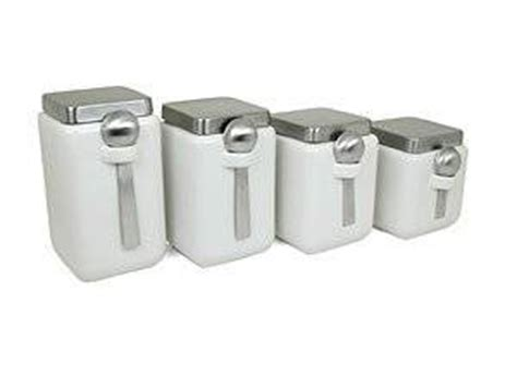 capriware kitchen canisters ceramic stainless steel amazon com oggi ceramic square canister set with