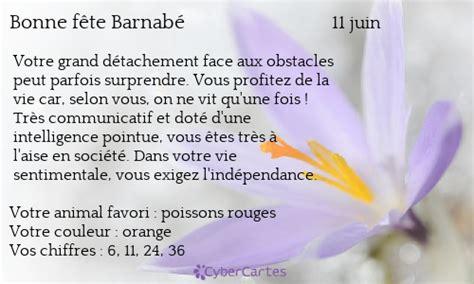 Parfum Yolenta carte bonne f 234 te barnab 233 11 juin