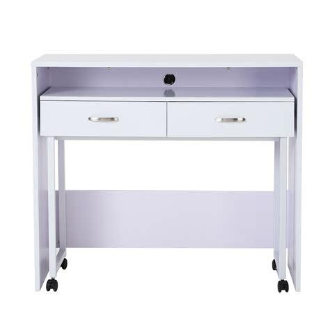 scrivania con ruote tavolo scrivania 170x77xh90cm legno truciolare grigio
