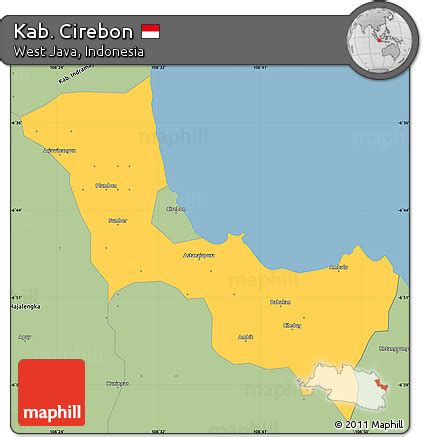 savanna style simple map  kab cirebon