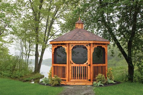 wood octagonal gazebos north country sheds