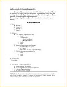 Mla Format Essay Sample 8 Essay Outline Mla Format Example Executive Resume