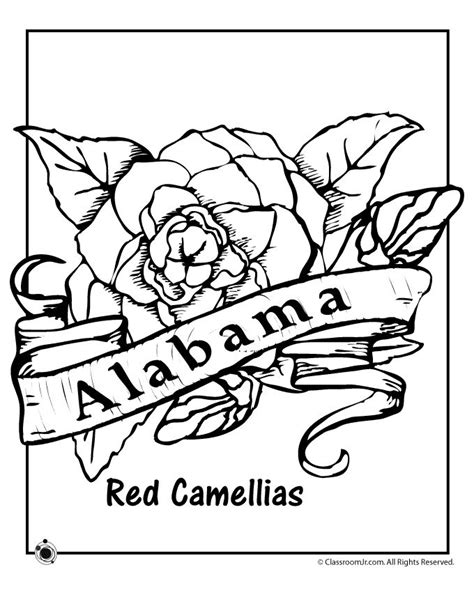 state flower coloring pages alabama state flower coloring