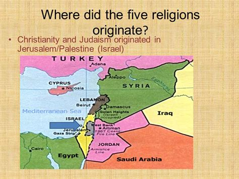 how did s originate five major world religions ppt