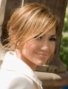 side swipe updo hairstyles jennifer lopez hairstyles sunny messy updo with side
