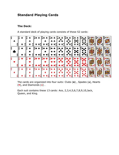standard deck best photos of deck of cards template printable
