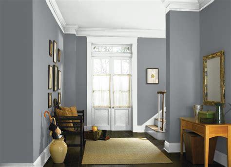 behr magnetic grayn  hallway living room grey