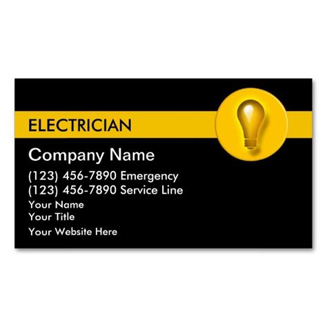 electrician business cards templates free 1978 best images about handyman business cards on