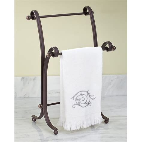 bath hand towel stand rack bronze bathroom standing holder