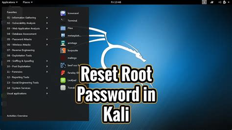 reset windows password kali linux how to reset root password in kali linux youtube