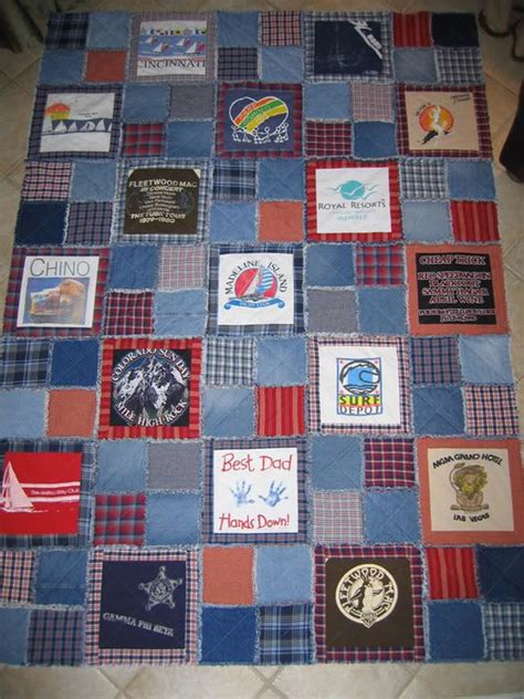 t shirt rag quilt pattern memory quilt with denim rag style more wedding ideas