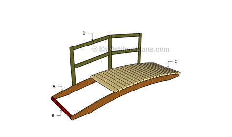 how to build a small wooden bridge free plans for outdoor wood furniture quick woodworking
