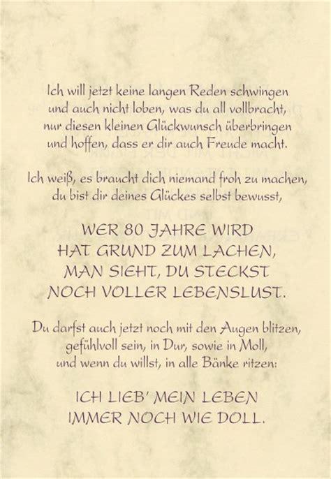 Home Design 30 X 50 by Gru 223 Karte Urkunde Zum 80 Geburtstag Herzliche