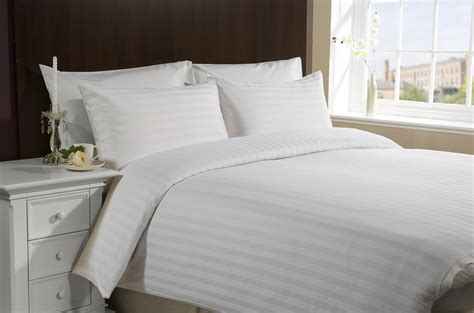 bed linen brennard textiles satin stripe bedding 220 thread count