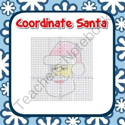 Santa coordinate graphing fun ordered pairs blank grid all 4
